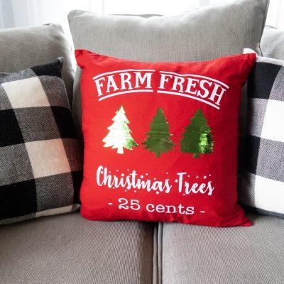 DIY Christmas Pillow Covers (Easy To Make Christmas Decor)