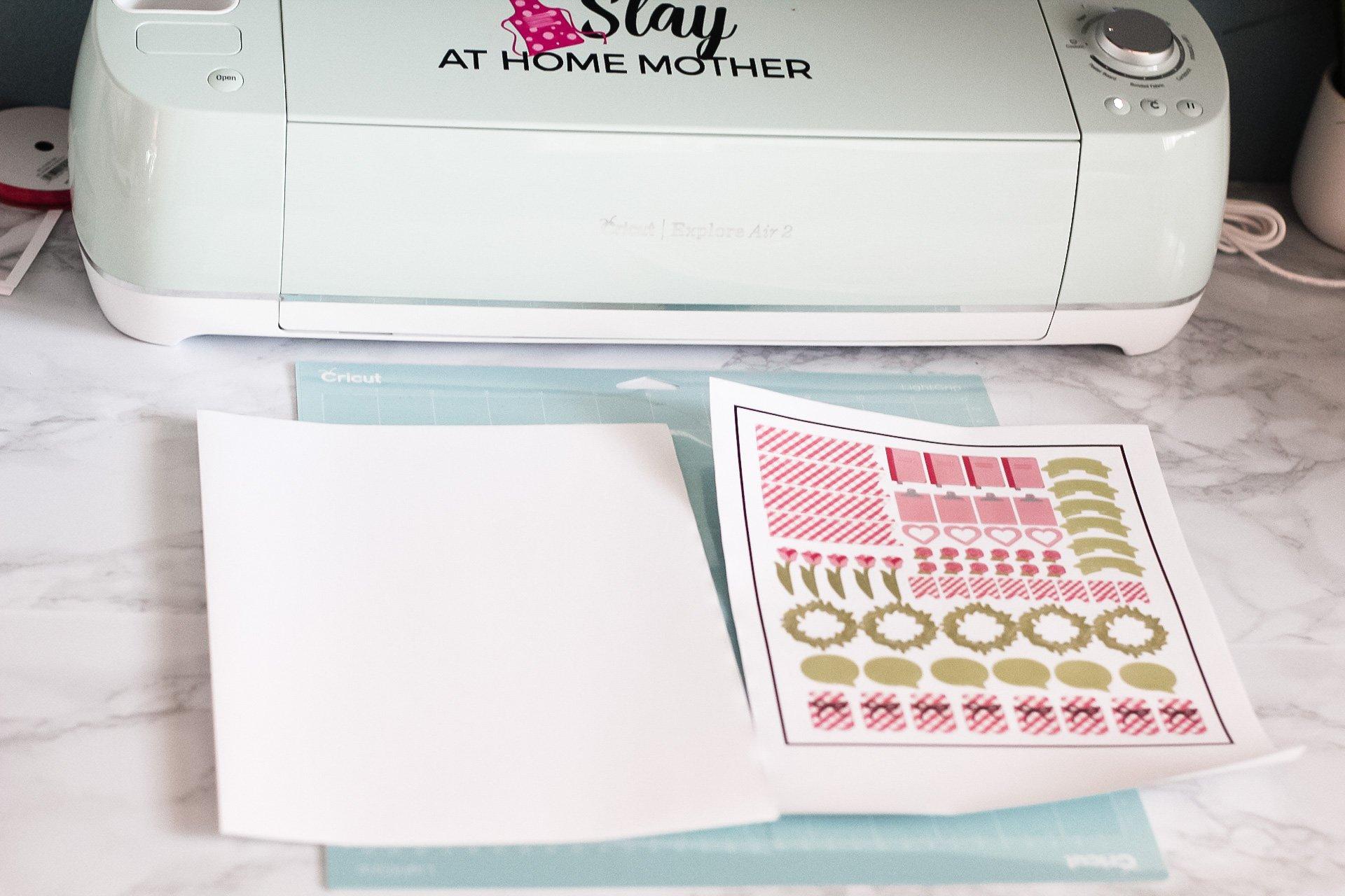 cricut print and cut materials