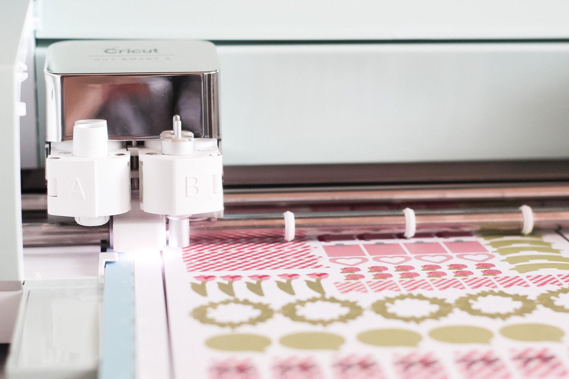 cricut calibration for print then cut stickers