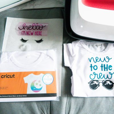 Cricut SportFlex Iron-On (Easy DIY Baby Onesies)