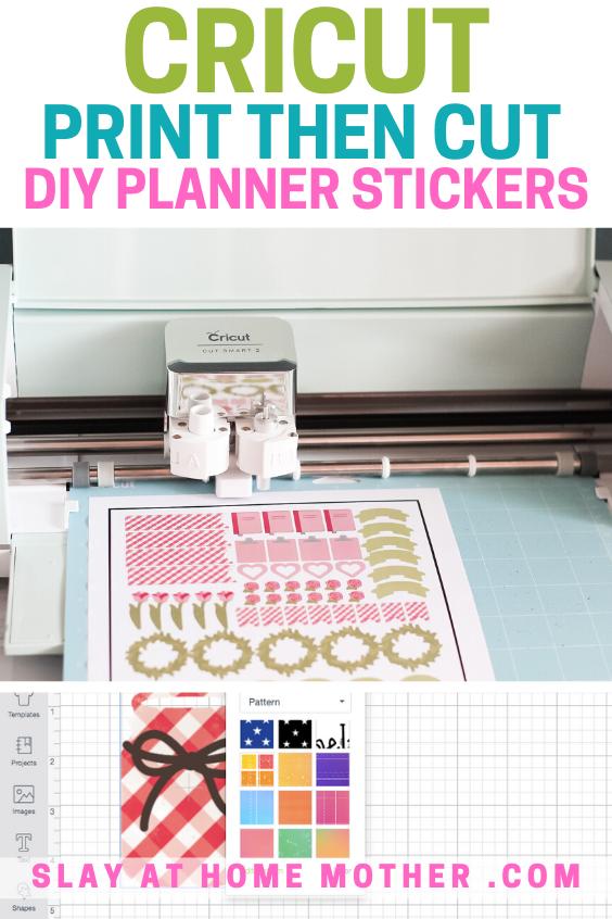 cricut print then cut stickers