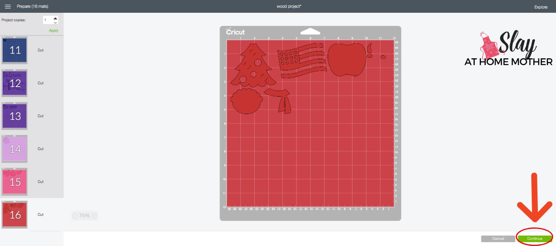 cutting vinyl in design space screenshot