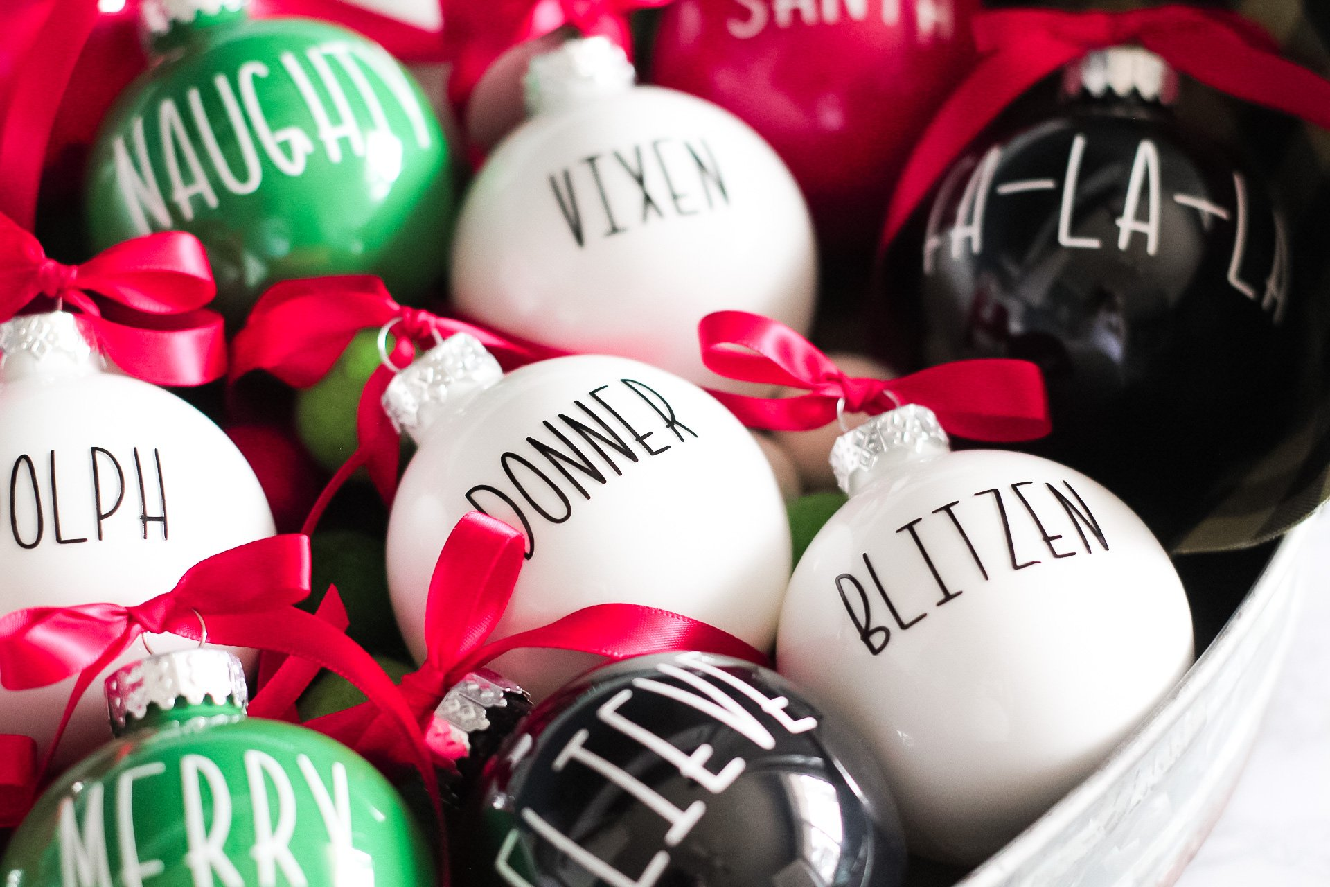diy christmas ornaments finished