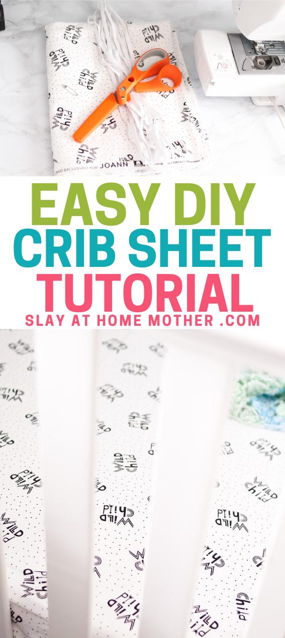 Easy DIY Crib Sheet Tutorial