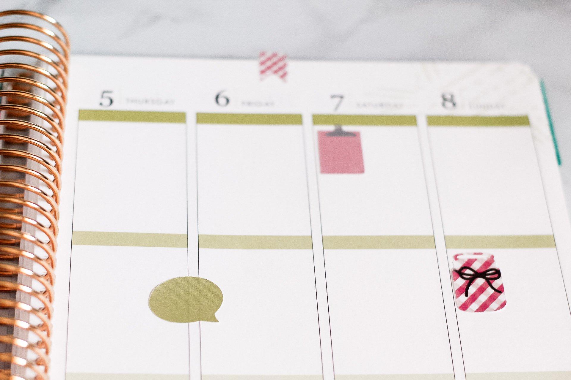 diy stickers in planner