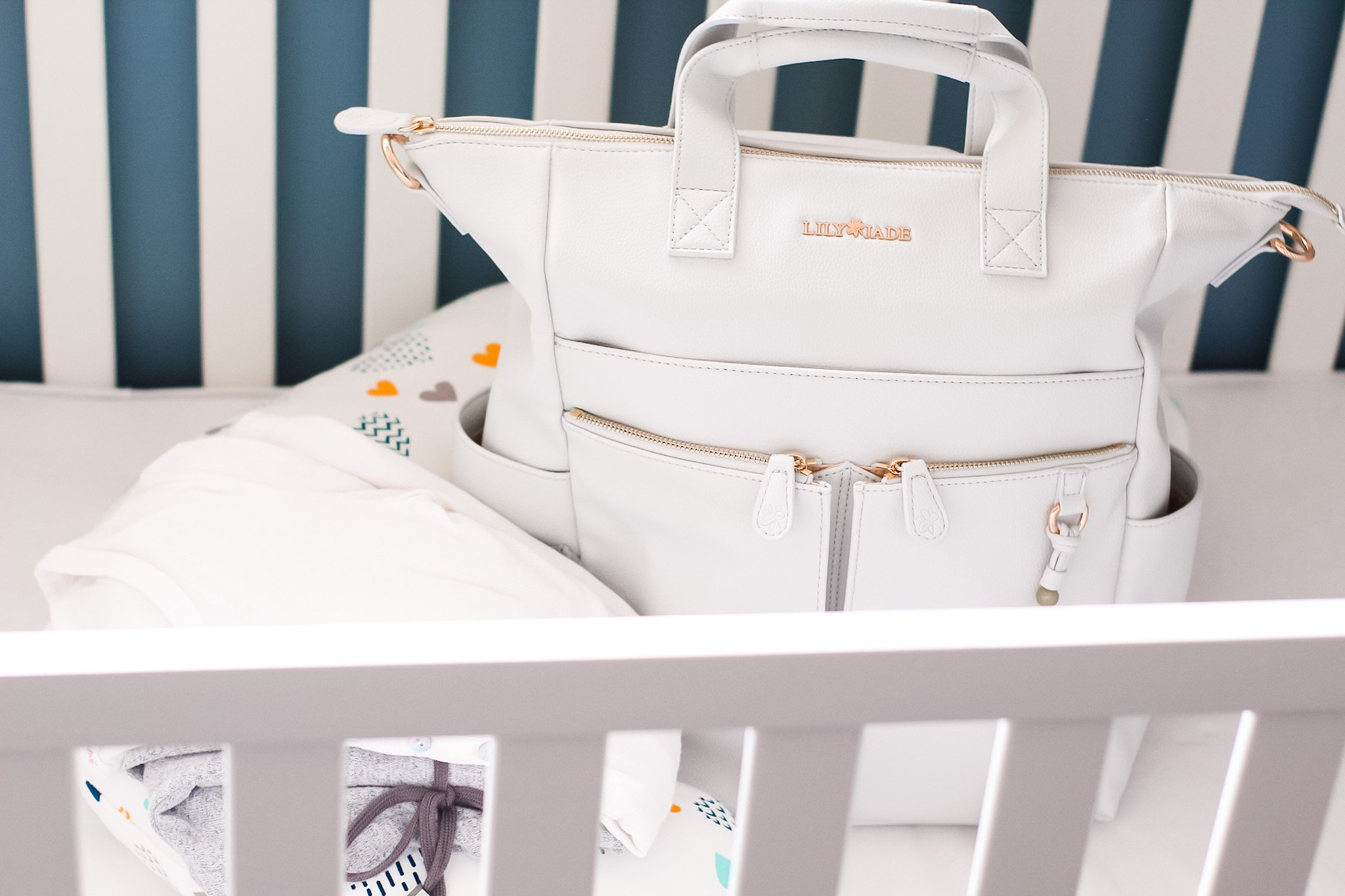 hospital bag checklist with lily jade caroline bag
