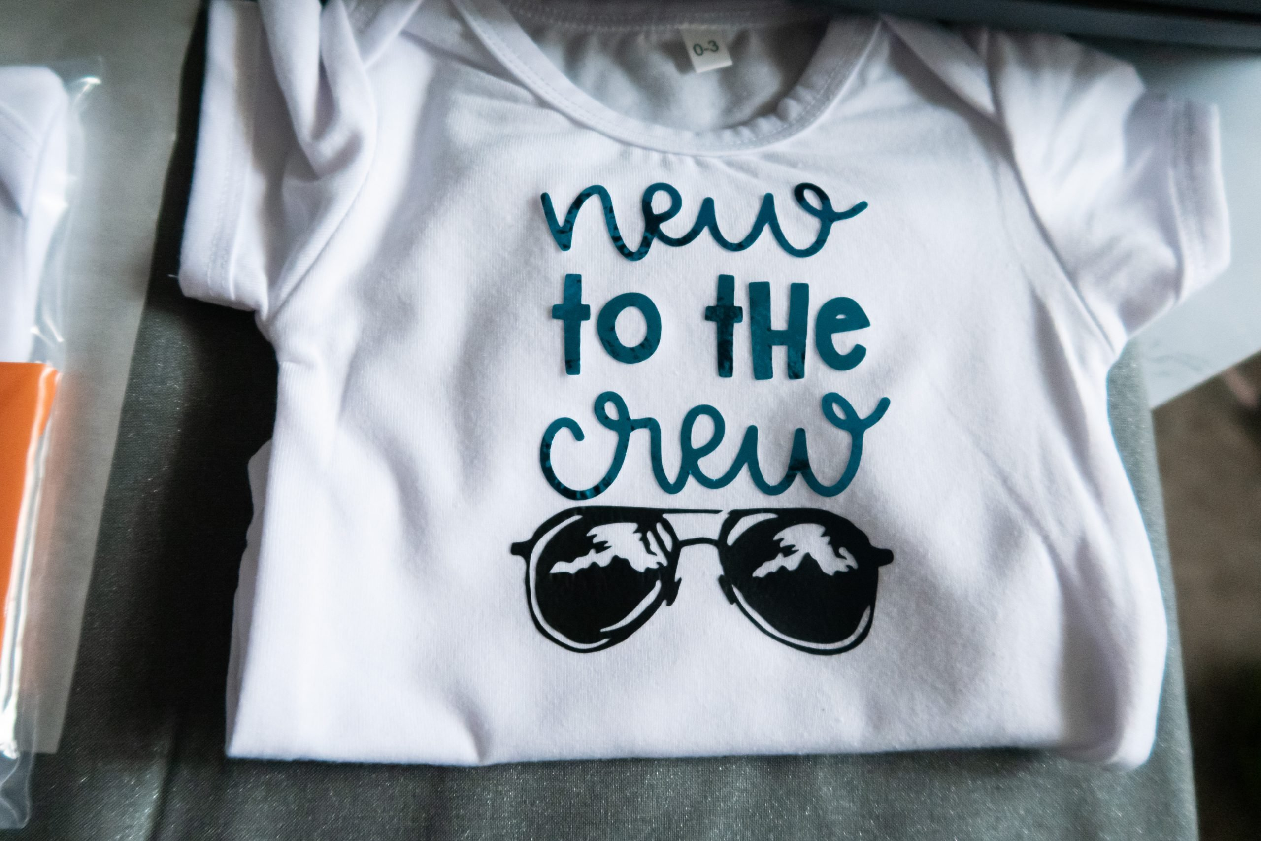 new to the crew onesies cricut explore air 2 finished project