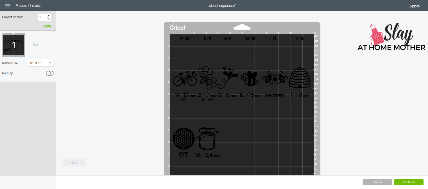 preview of attached objects in design space