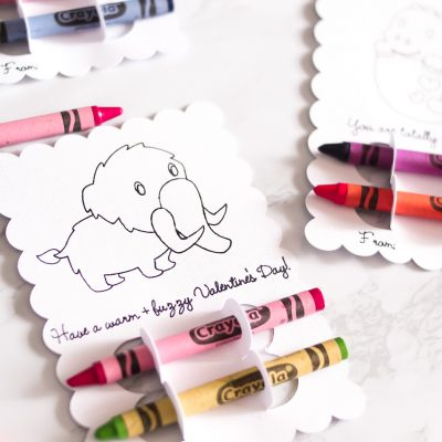 DIY Dino-Mite Valentine's Day Coloring Cards