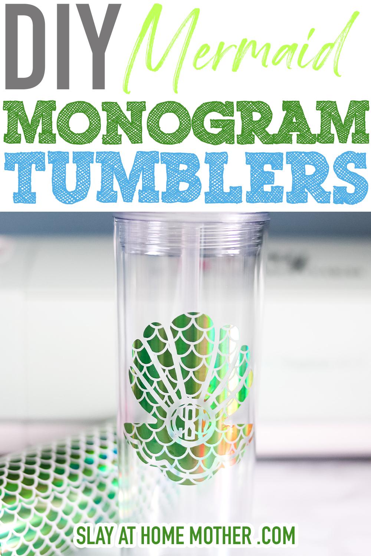 diy monogram tumblers