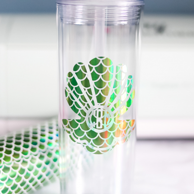 DIY Monogram Tumbler (Easy $4 Mermaid Tumbler Tutorial)