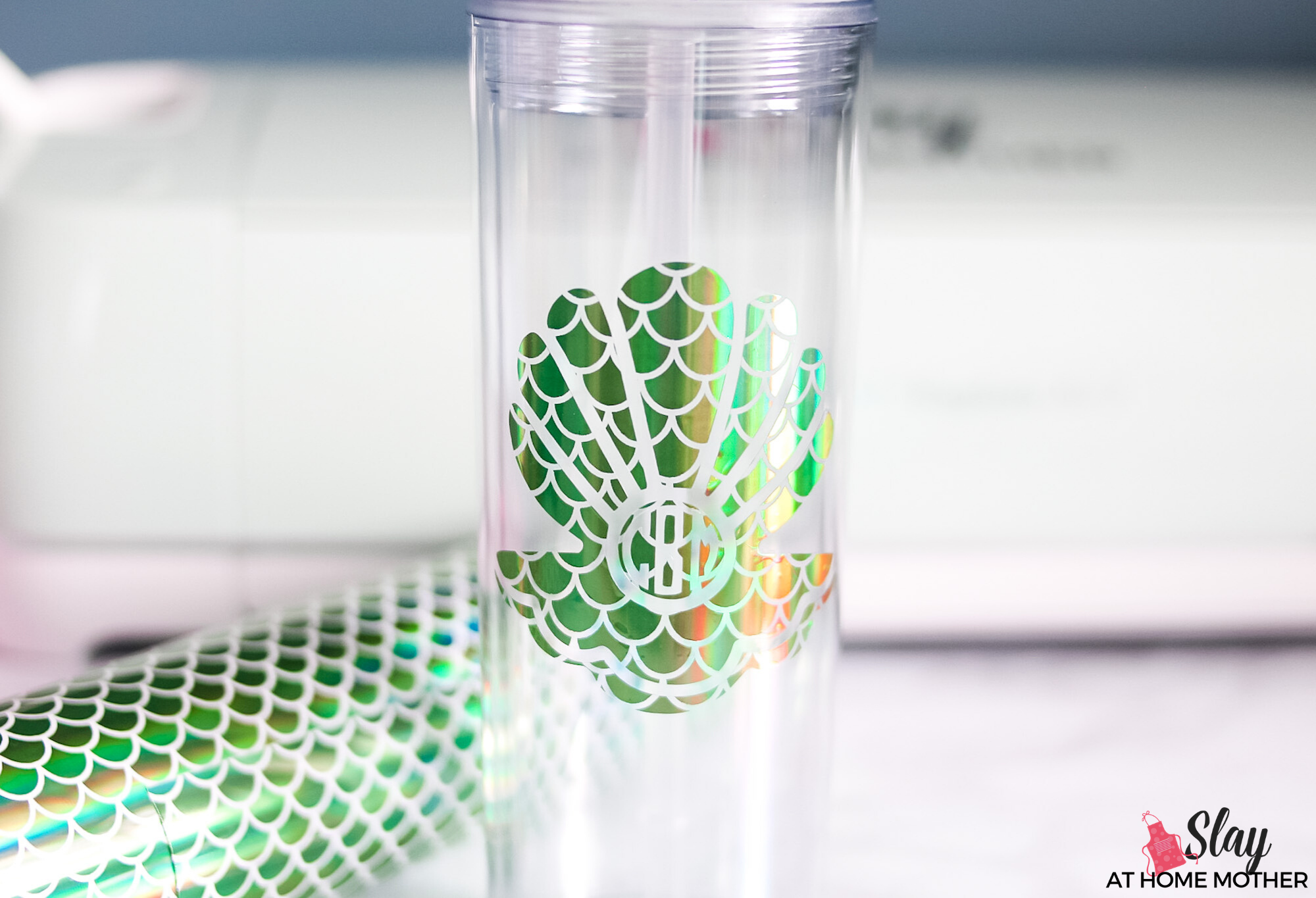 finished mermaid monogram tumbler