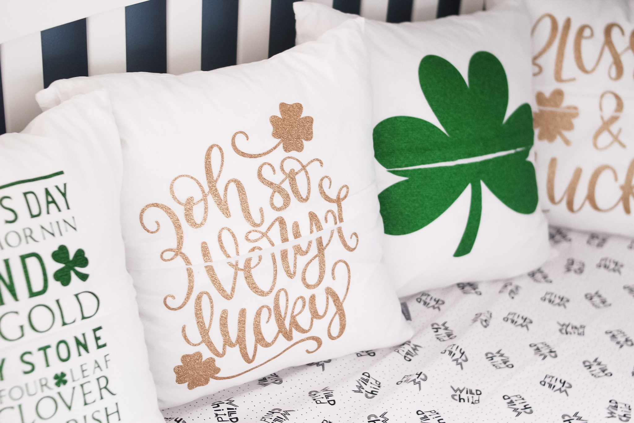 finished st.pattys day pillows