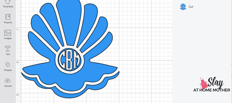 sliced monogram image in design space