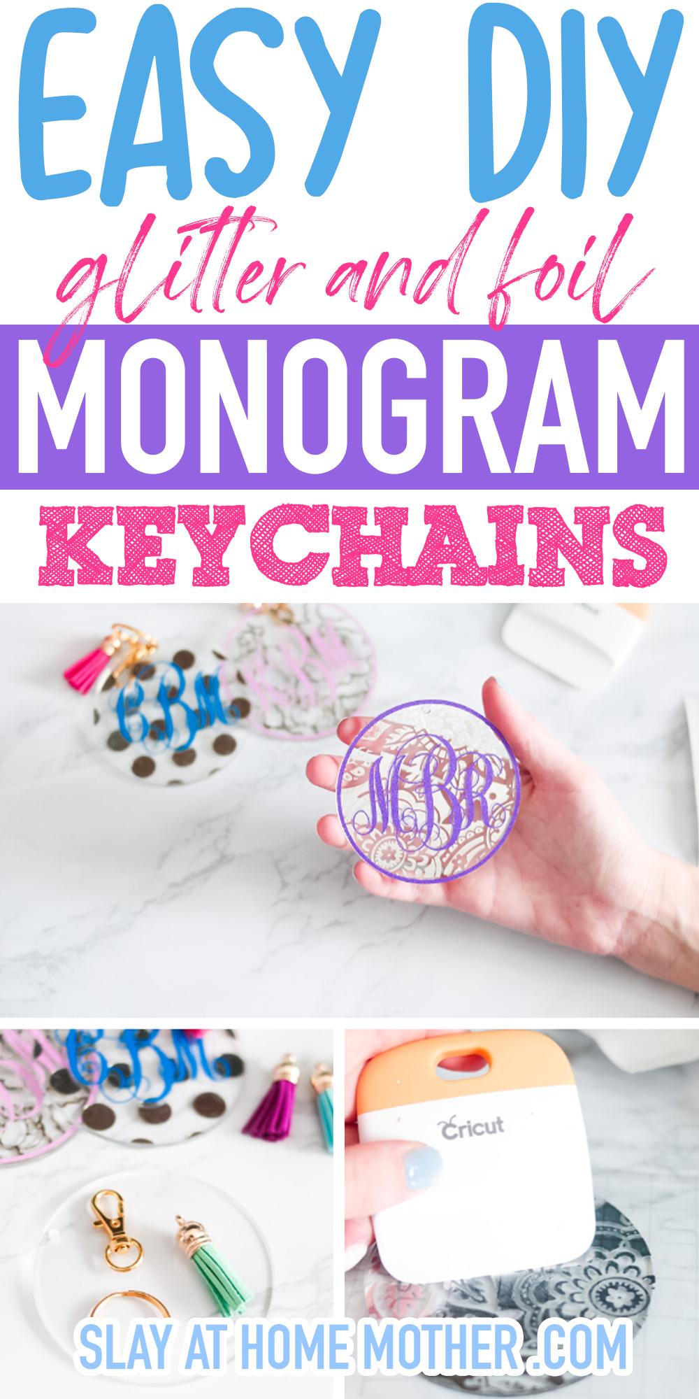 diy monogram keychains