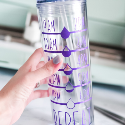 DIY Water Bottle Tracker Decals ($5 Skinny Tumbler Tutorial)