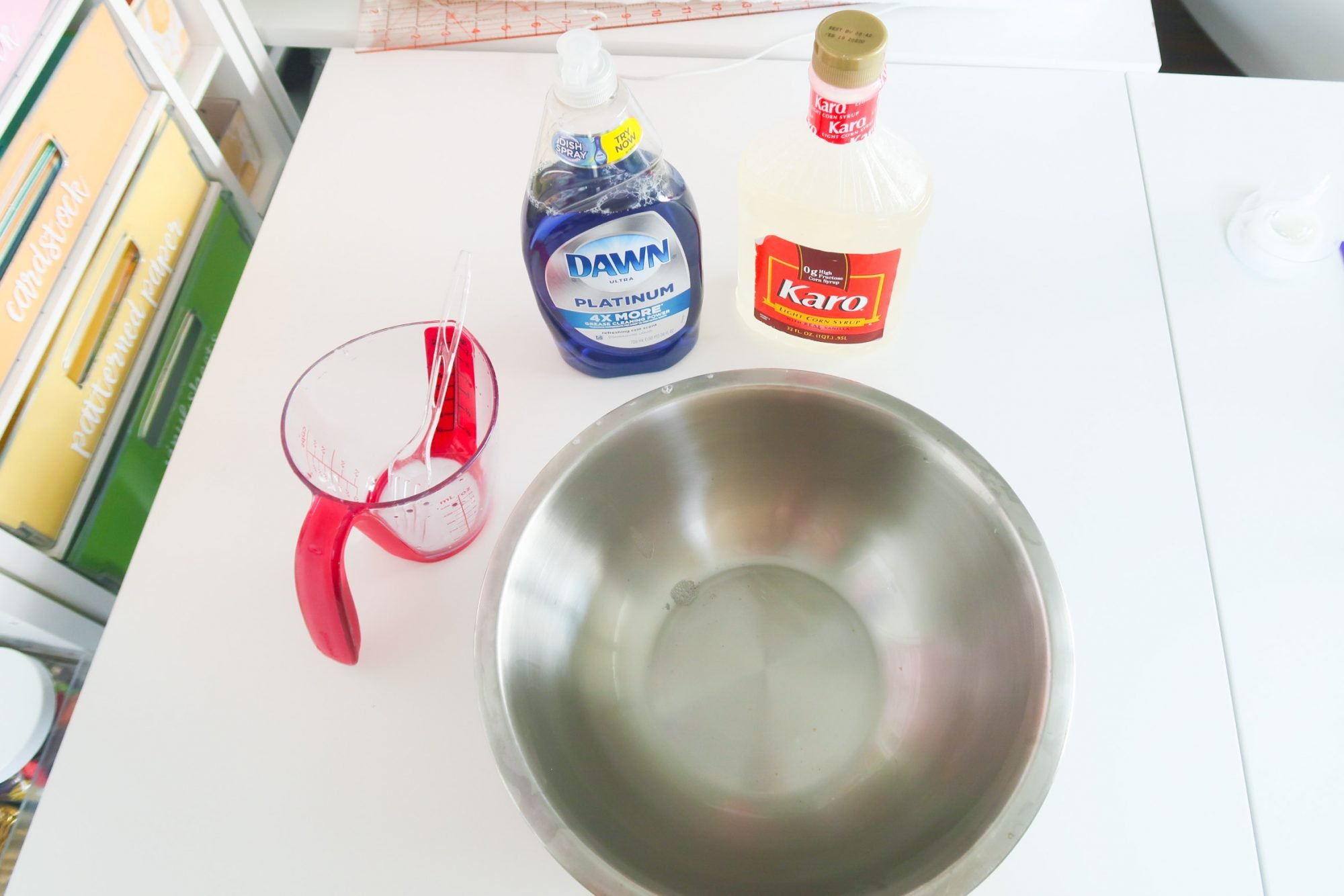 ingredients for bubble solution
