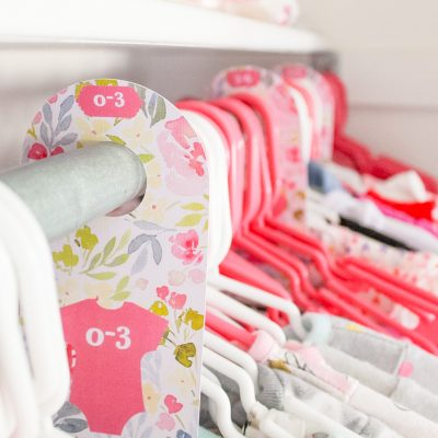 Print Then Cut: DIY Baby Closet Dividers with the Cricut Explore Air 2