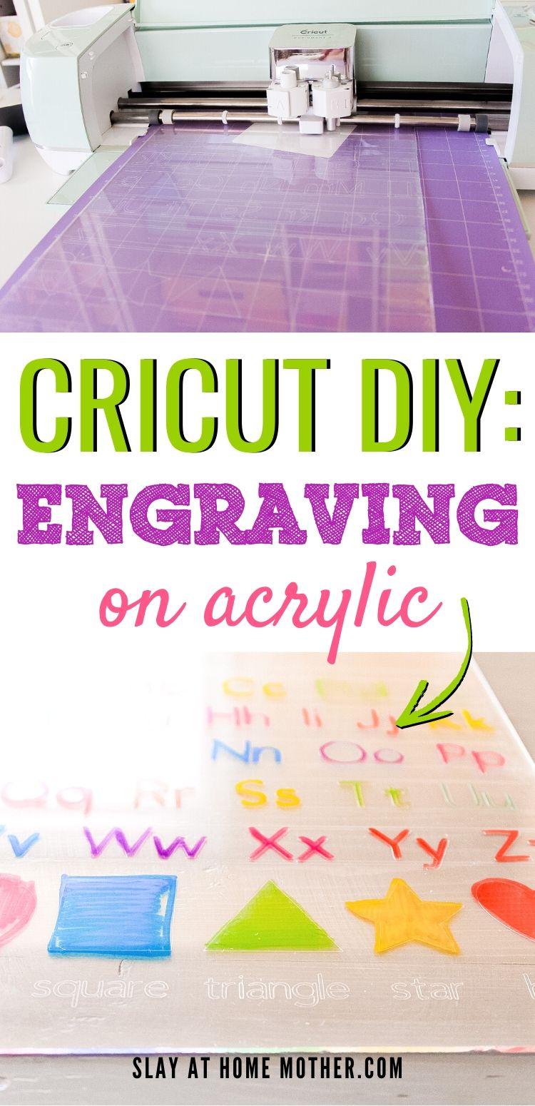 Cricut Hack Engraving Acrylic With Cricut Explore Air 2