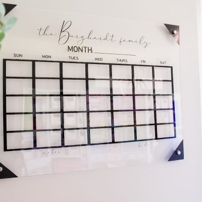 Easy DIY Acrylic Calendar For $25 With The Cricut Explore Air 2