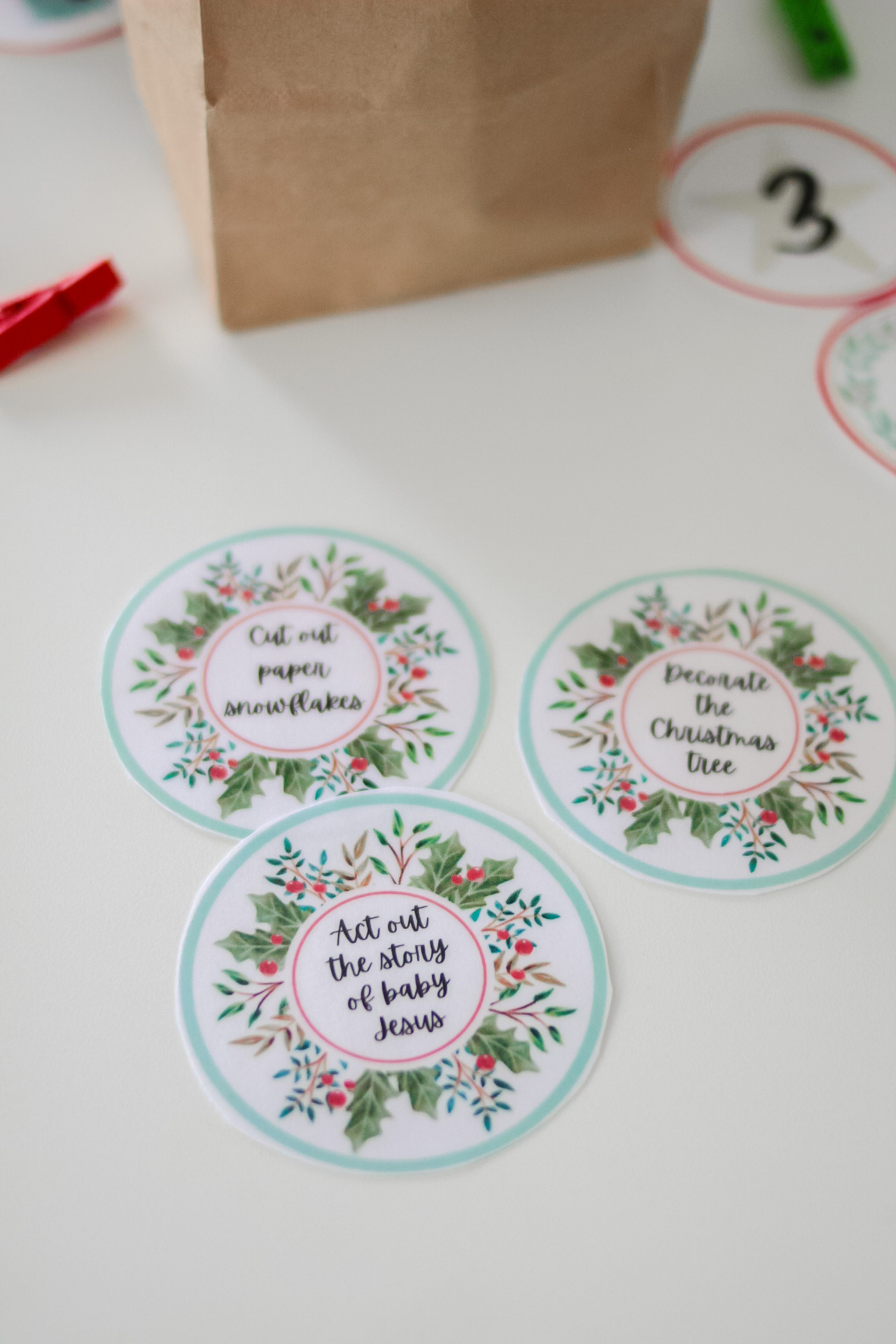 Advent calendar ideas - printable activity cards