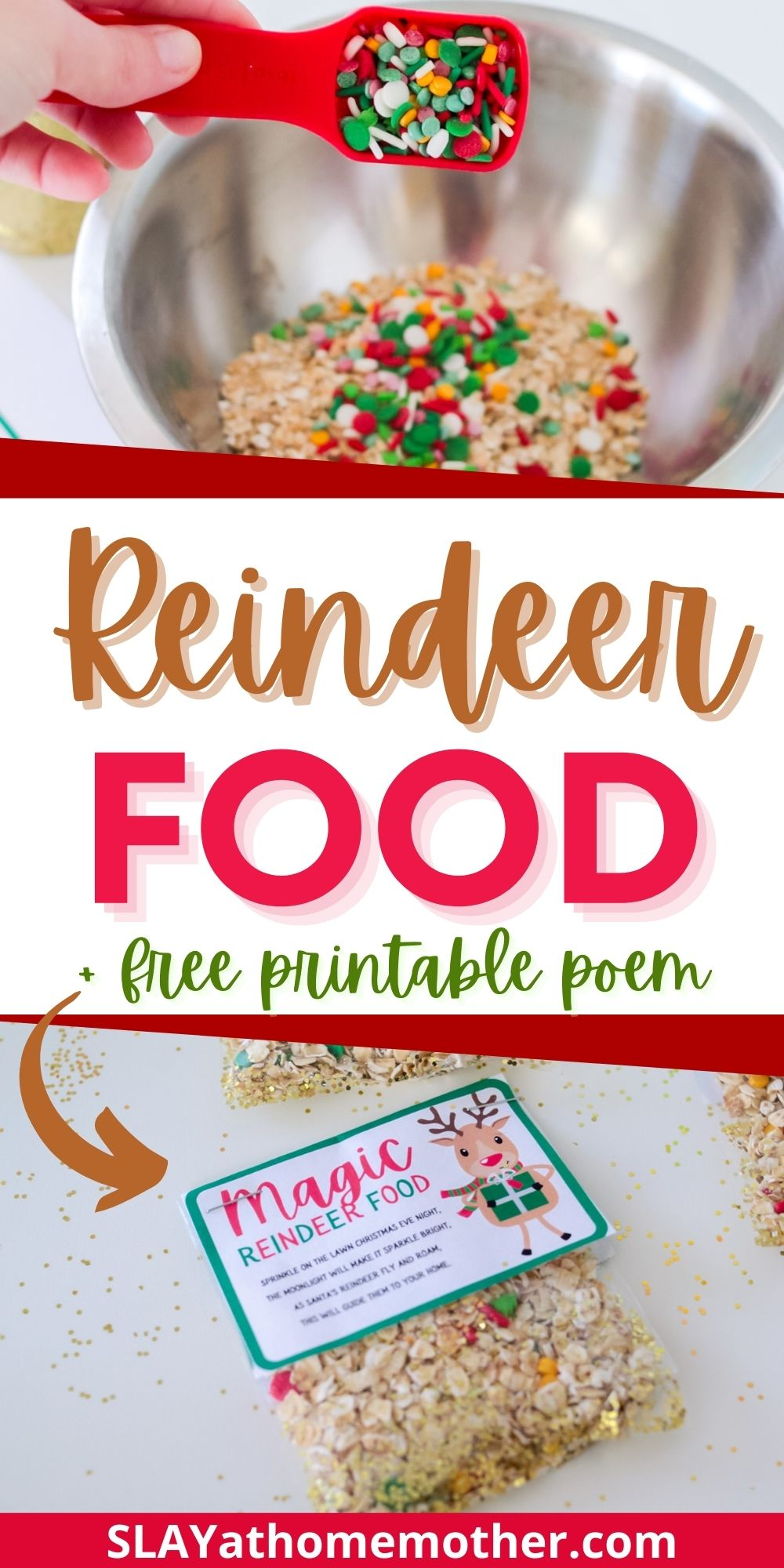 reindeer food recipe vertical pin