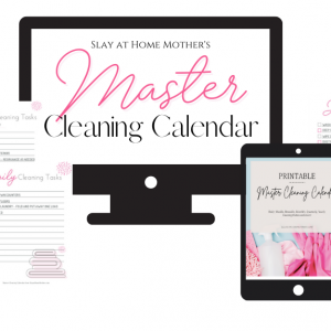 Master Cleaning Calendar by Corinne Burghardt