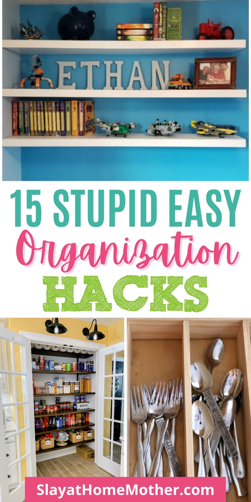 Organize your home with these 15 easy cleaning and organization hacks #slayathomemother #cleaning #organization #claningtips #cleaninghacks