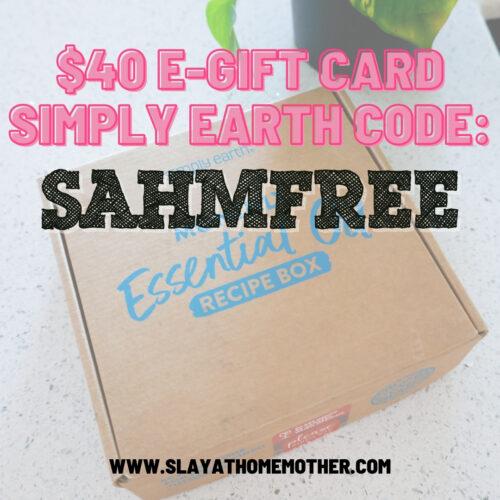 simply earth discount code SAHMFREE