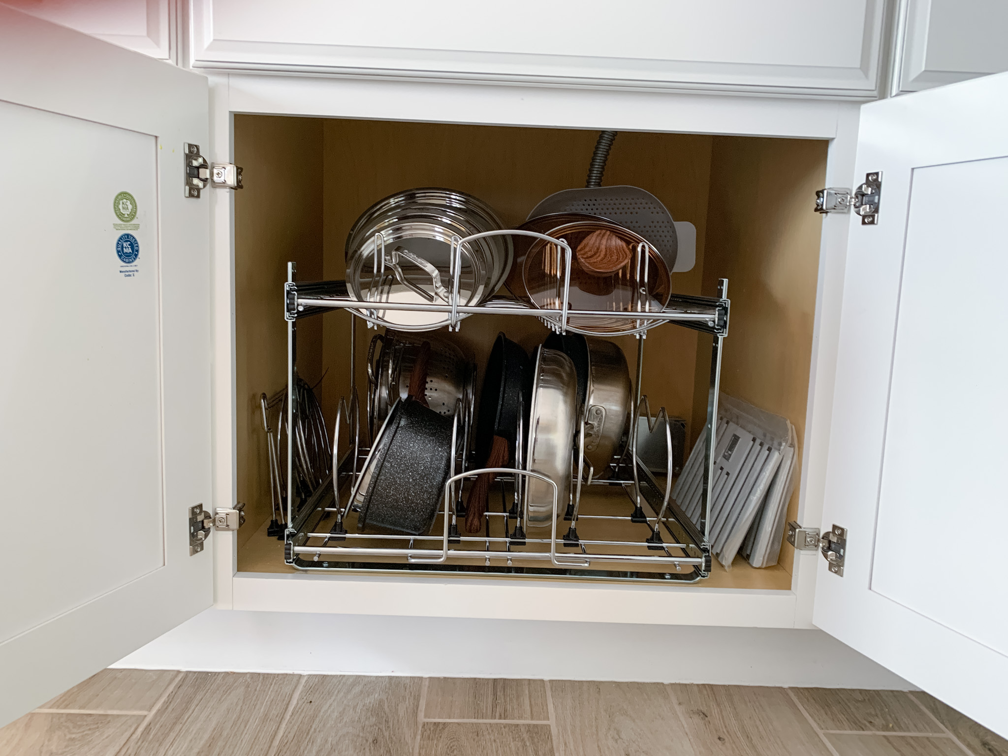 cabinet organization ideas for pots and pans